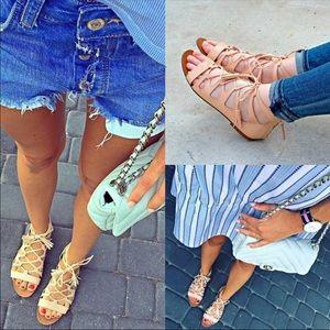 Zara lace up sandals